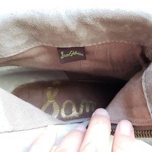 "Sam Edelman Shoes - NWOT Sam Edelman • ""Louis"" taupe ankle fringe boot"